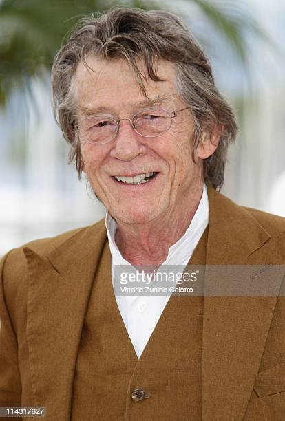 Actor John Hurt attends the 'Melancholia' photocall at the Palais des Festivals during the 64th Cannes Film Festival on May 18 2011 in Cannes France