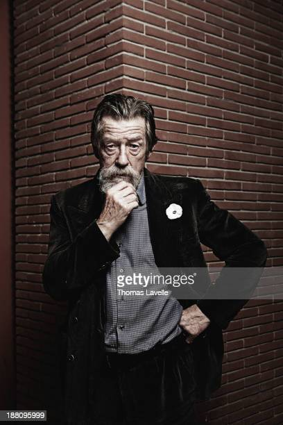 Actor John Hurt is photographed for Self Assignment during the 8th Rome Film Festival on November 9 2013 in Rome Italy
