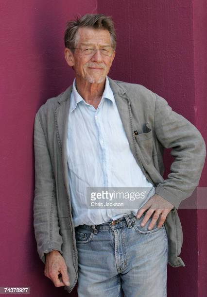 Actor John Hurt poses for a portrait after the press conference for the film 'The Oxford Murders' at El Pacha Hotel on June 2 2007 in Ibiza Spain The...