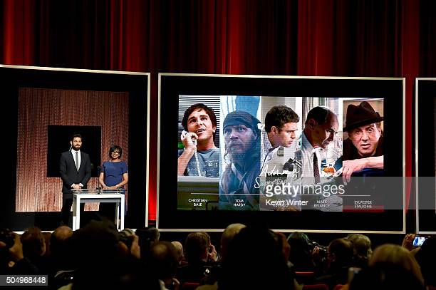 Actor John Krasinski and President of the Academy of Motion Picture Arts and Sciences Cheryl Boone Isaacs announce the nominees for Best Actor in a...