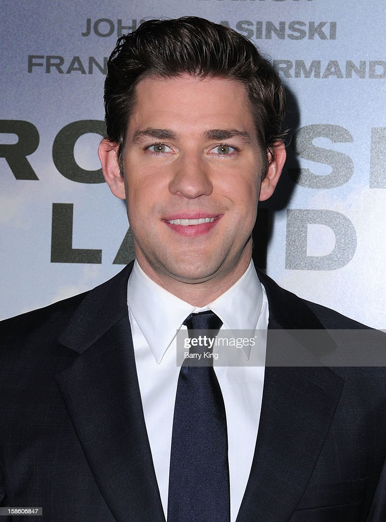 Actor John Krasinski arrives at the Los Angeles premiere of 'Promised Land' held at Directors Guild Of America on December 6, 2012 in Los Angeles, California.