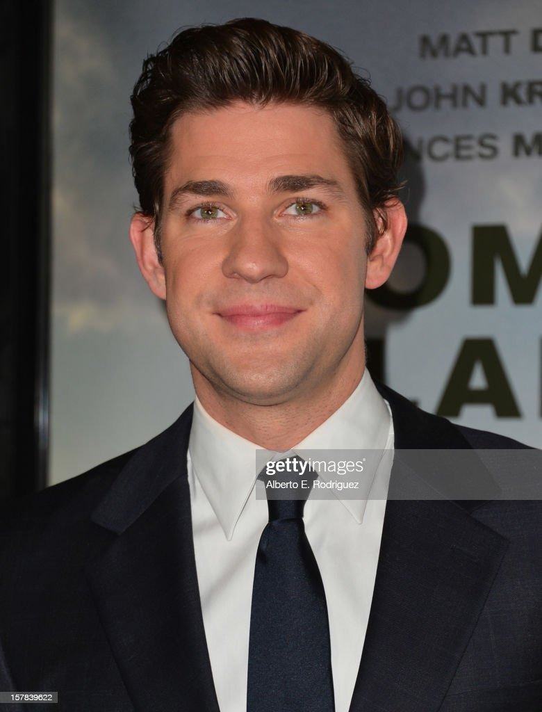 Actor John Krasinski arrives to the premiere of Focus Features' 'Promised Land' at the Directors Guild Of America on December 6, 2012 in Los Angeles, California.