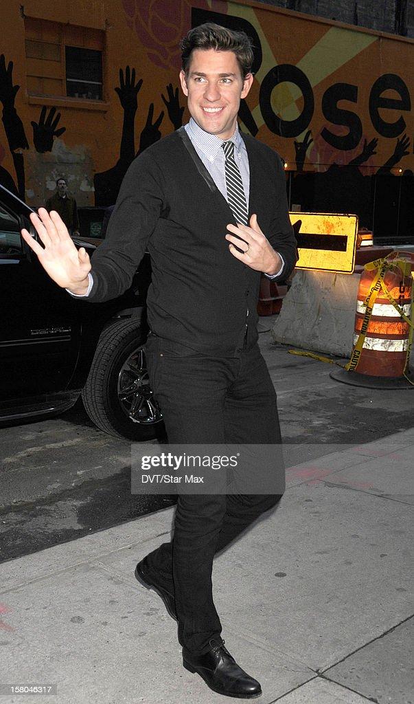 Actor John Krasinski as seen on December 3, 2012 in New York City.
