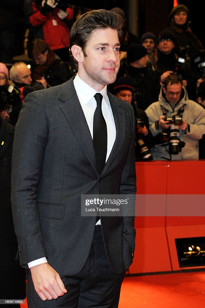 Actor <a gi-track='captionPersonalityLinkClicked' href=/galleries/search?phrase=John+Krasinski&family=editorial&specificpeople=646194 ng-click='$event.stopPropagation()'>John Krasinski</a> attends 'Promised Land' Premiere during the 63rd Berlinale International Film Festival at Berlinale Palast on February 8, 2013 in Berlin, Germany.