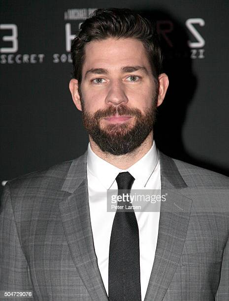 Actor John Krasinski attends the Dallas Premiere of the Paramount Pictures film '13 Hours The Secret Soldiers of Benghazi' at the ATT Dallas Cowboys...
