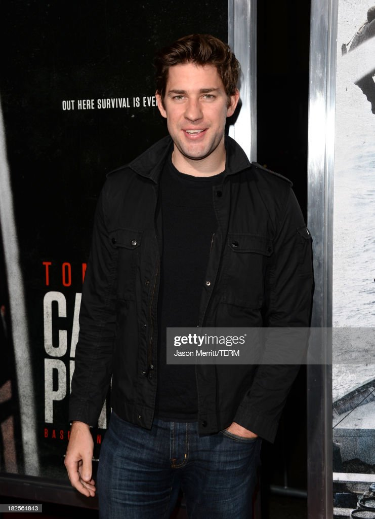 Actor <a gi-track='captionPersonalityLinkClicked' href=/galleries/search?phrase=John+Krasinski&family=editorial&specificpeople=646194 ng-click='$event.stopPropagation()'>John Krasinski</a> attends the premiere of Columbia Pictures' 'Captain Phillips' at the Academy of Motion Picture Arts and Sciences on September 30, 2013 in Beverly Hills, California.