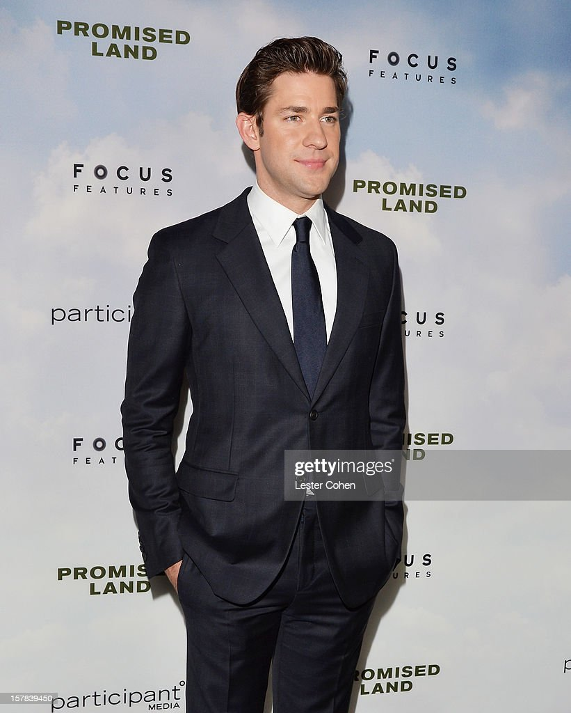 Actor John Krasinski attends the ''Promised Land' Los Angeles premiere at Directors Guild Of America on December 6, 2012 in Los Angeles, California.