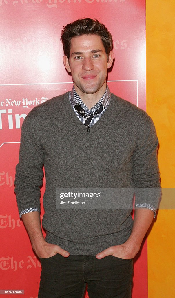 Actor John Krasinski attends TimesTalk Presents An Evening With Marion Cotillard, Matt Damon & Gus Van Sant at TheTimesCenter on November 27, 2012 in New York City.