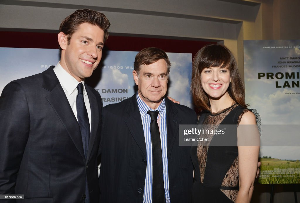 Actor John Krasinski, director Gus Van Sant and actress Rosemarie DeWitt attend the ''Promised Land' Los Angeles premiere at Directors Guild Of America on December 6, 2012 in Los Angeles, California.