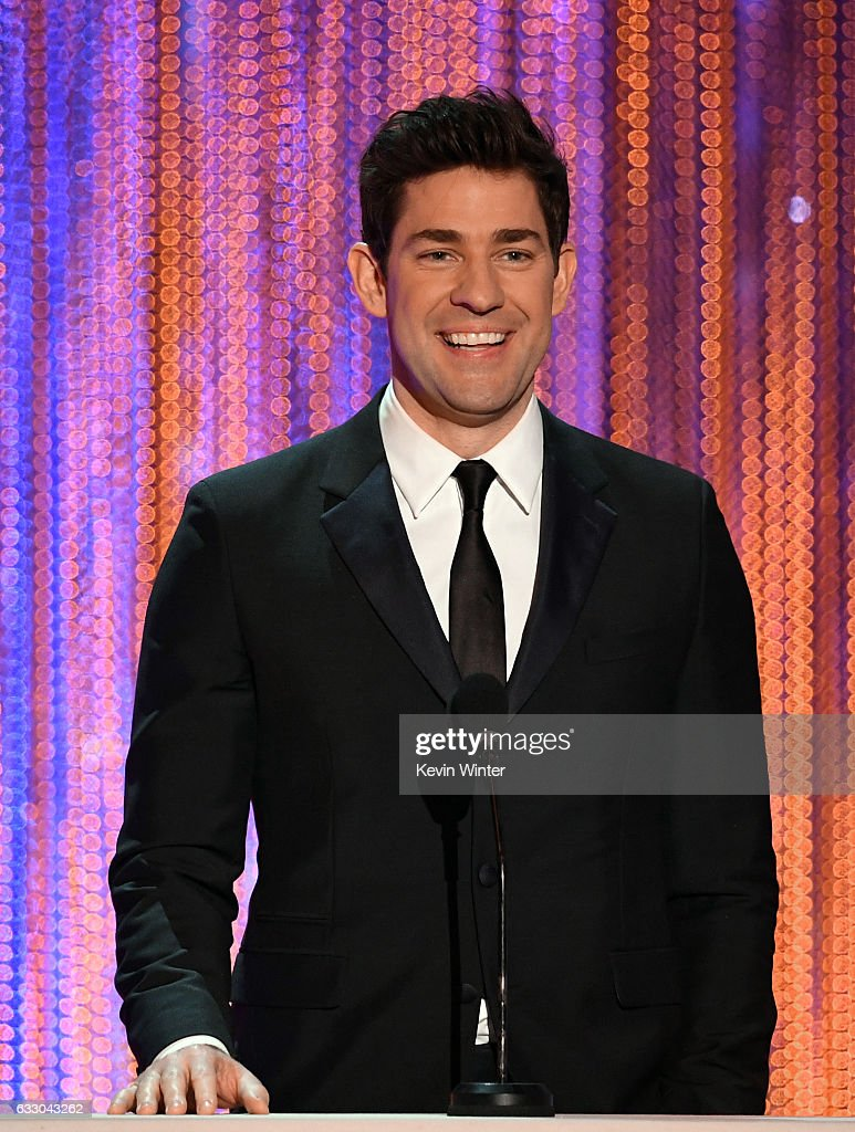 Actor John Krasinski speaks onstage during The 23rd Annual Screen Actors Guild Awards at The Shrine Auditorium on January 29, 2017 in Los Angeles, California. 26592_014
