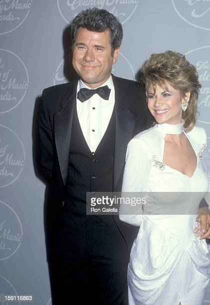 Actor John Larroquette and actress Markie Post and actress Catherine Bach attend the 21st Annual Academy of Country Music Awards on April 14 1986 at...