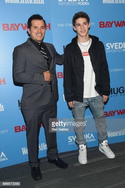 Actor John Leguizamo and son Lucas Leguizamo attend The Cinema Society Screening of 'Baywatch' at Landmark Sunshine Cinema on May 22 2017 in New York...
