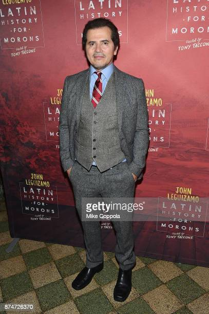 Actor John Leguizamo poses for a photo at 'Latin History For Morons' Broadway Opening Night at Studio 54 on November 15 2017 in New York City