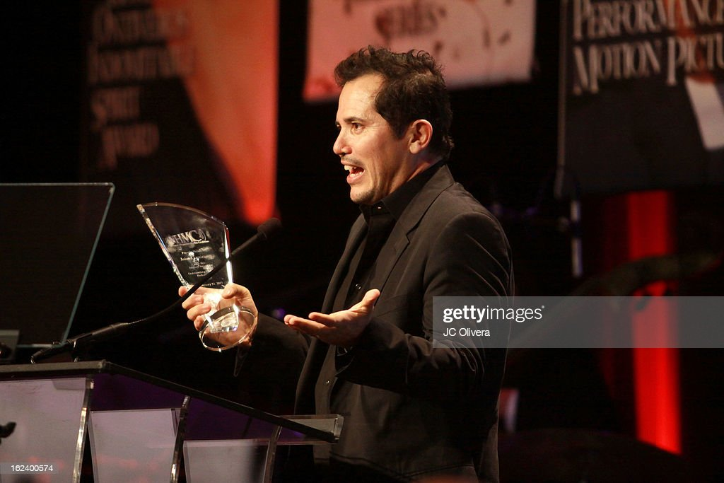Actor <a gi-track='captionPersonalityLinkClicked' href=/galleries/search?phrase=John+Leguizamo&family=editorial&specificpeople=167163 ng-click='$event.stopPropagation()'>John Leguizamo</a> speaks at the National Hispanic Media Coalition's 16th Annual Impact Awards Gala at the Beverly Wilshire Four Seasons Hotel on February 22, 2013 in Beverly Hills, California.