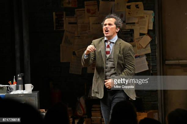 Actor John Leguizamo takes a curtain call at the end of 'Latin History For Morons' Broadway Opening Night at Studio 54 on November 15 2017 in New...