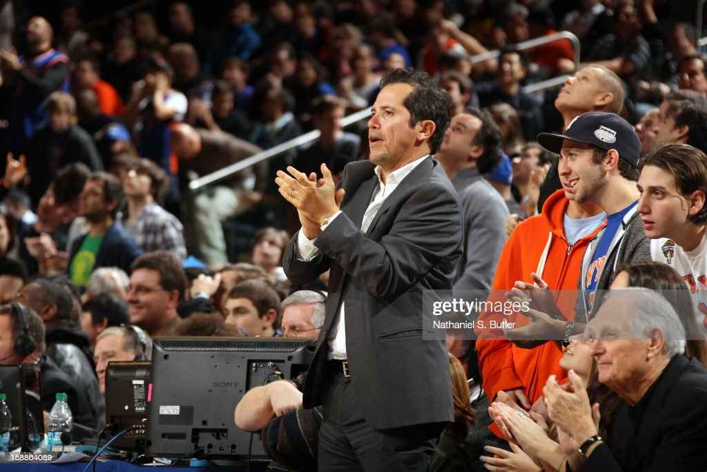 Actor John Leguizamo watches the New York Knicks play the Portland Trail Blazers on January 1, 2013 at Madison Square Garden in New York City.