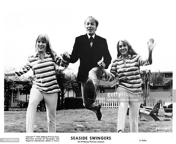 Actor John Leyton on set of the Embassy Pictures movie 'Seaside Swingers' in 1965