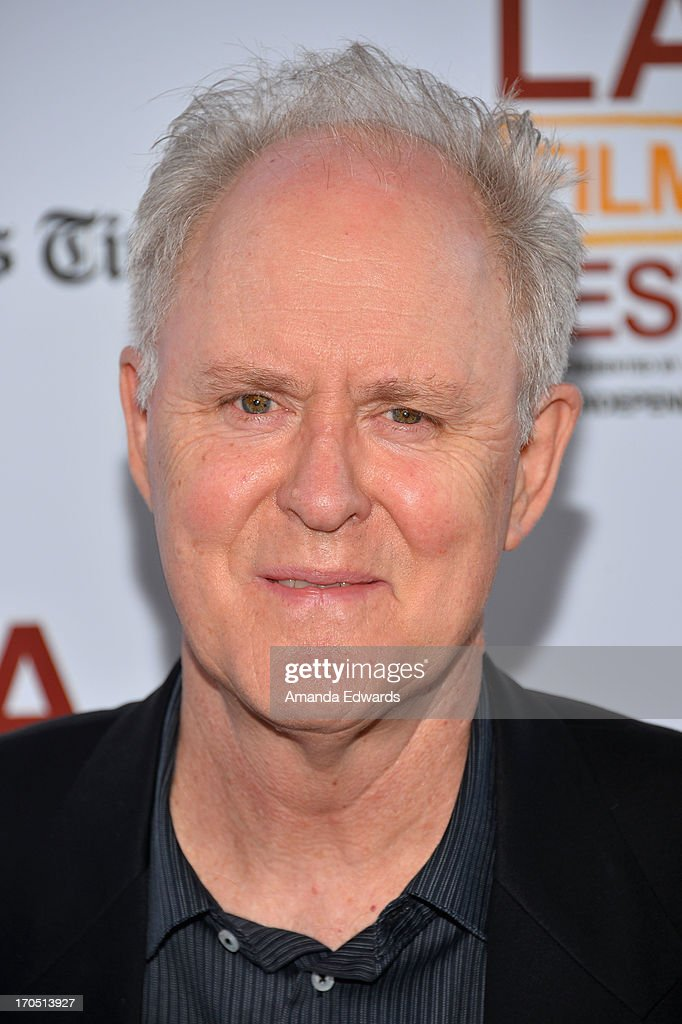 Actor John Lithgow arrives at the 2013 Los Angeles Film Festival Opening Night Gala Premiere of 'I'm So Excited' at Regal Cinemas LA Live on June 13...
