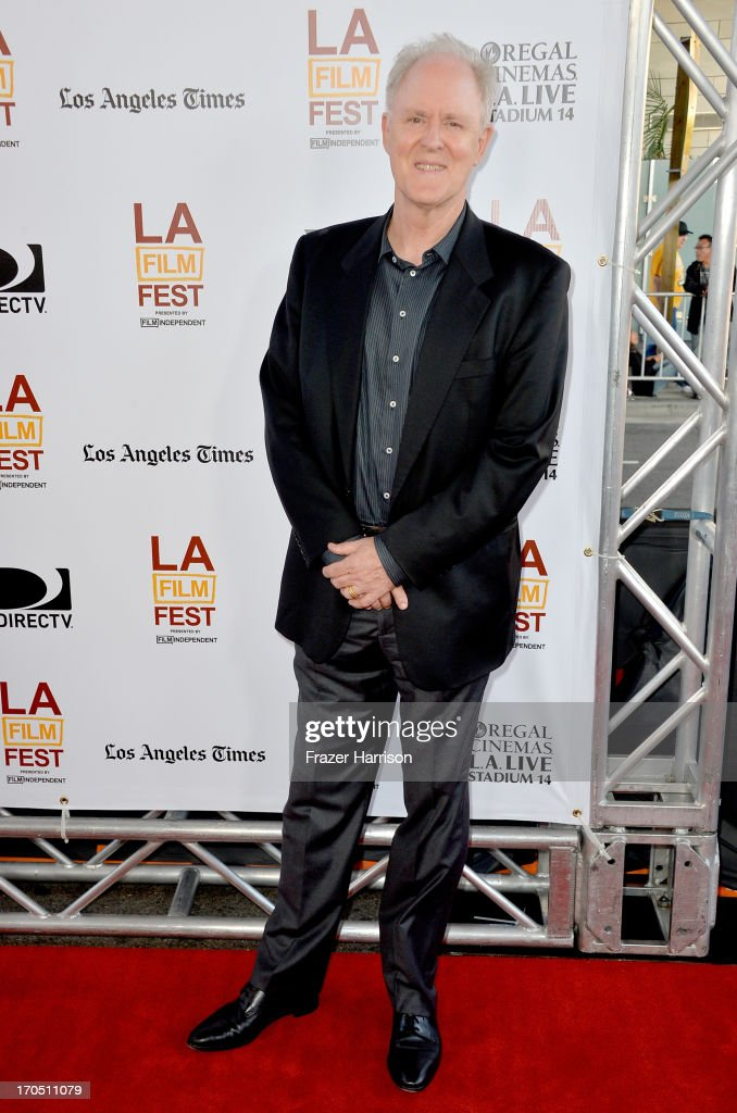 Actor John Lithgow arrives at the premiere of Sony Pictures Classics 'I'm So Excited' during the 2013 Los Angeles Film Festival at Regal Cinemas LA...