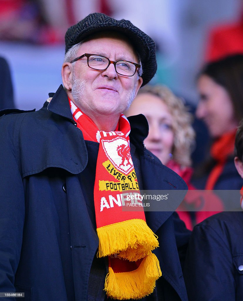 "US actor John Lithgow arrives to watch the English Premier League football match between Liverpool and Newcastle United at Anfield in Liverpool, north-west England on November 4, 2012. USE. No use with unauthorized audio, video, data, fixture lists, club/league logos or ""live"" services. Online in-match use limited to 45 images, no video emulation. No use in betting, games or single club/league/player publications."