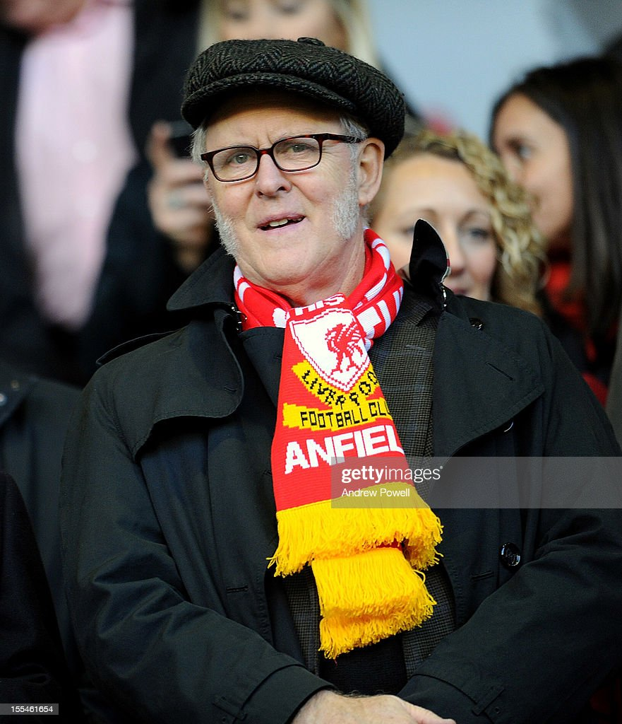Actor John Lithgow at Anfield to watch the football during the Barclays Premier League match between Liverpool and Newcastle United at Anfield on November 4, 2012 in Liverpool, England.