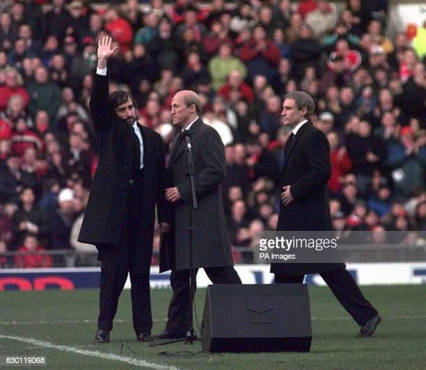 Actor John Lynch who plays George Best takes to the pitch at Old Trafford to read a Biblical tribute to Sir Matt Busby for the biopic 'Best' today...