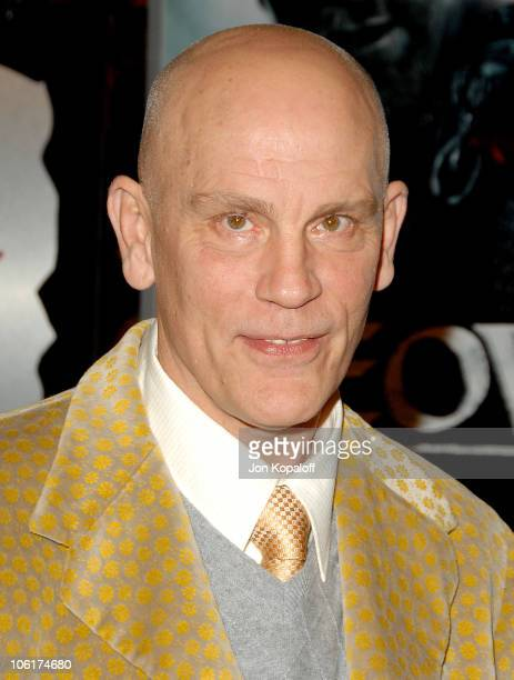 Actor John Malkovich arrives at the Los Angeles Premiere 'Beowulf' at the Mann Village Theater on November 5 2007 in Westwood California