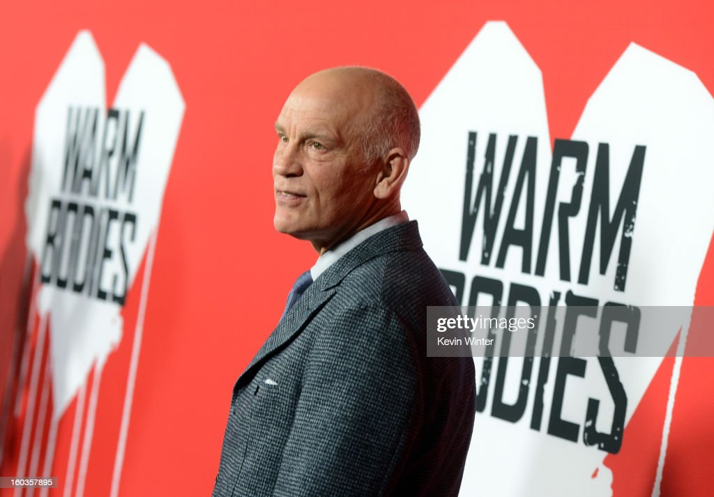 Actor John Malkovich arrives for the Los Angeles premiere of Summit Entertainment's 'Warm Bodies' at ArcLight Cinemas Cinerama Dome on January 29, 2013 in Hollywood, California.