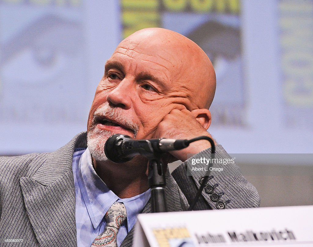 Actor John Malkovich at DreamWorks Animation Presentation of 'The Penguins of Madagascar' - Comic-Con International 2014 held at the San Diego Convention Center on July 24, 2014 in San Diego, California.