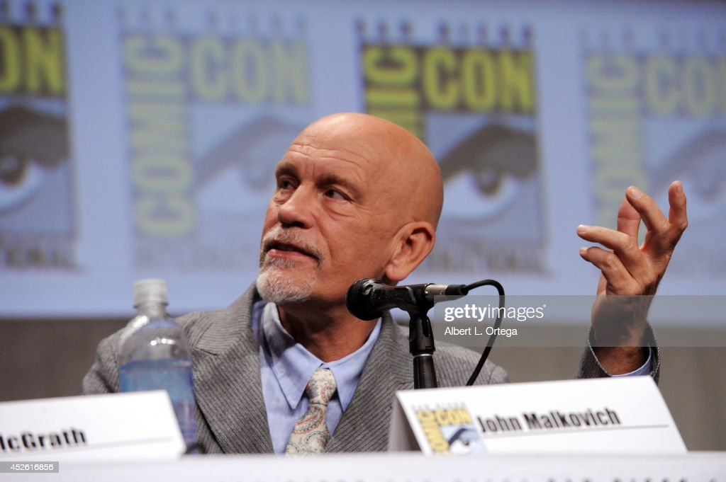 Actor John Malkovich attends the DreamWorks Animation presentation during Comic-Con International 2014 at the San Diego Convention Center on July 24, 2014 in San Diego, California.