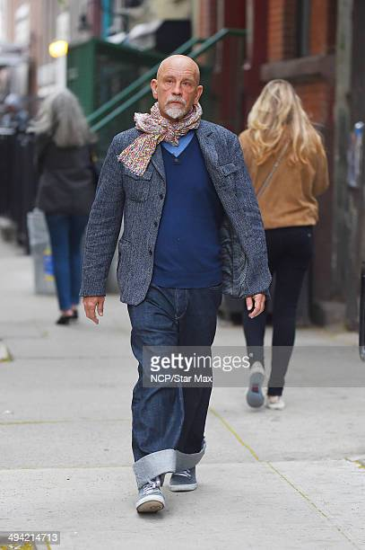 Actor John Malkovich is seen on May 28 2014 in New York City