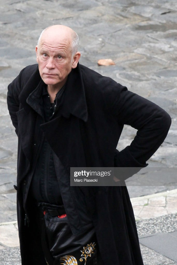 Actor <a gi-track='captionPersonalityLinkClicked' href=/galleries/search?phrase=John+Malkovich&family=editorial&specificpeople=208819 ng-click='$event.stopPropagation()'>John Malkovich</a> is seen on the set of 'RED 2' on October 11, 2012 in Paris, France.