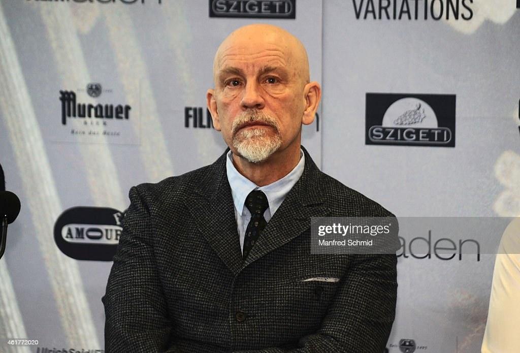 Actor <a gi-track='captionPersonalityLinkClicked' href=/galleries/search?phrase=John+Malkovich&family=editorial&specificpeople=208819 ng-click='$event.stopPropagation()'>John Malkovich</a> poses for a photograph during the 'Casanova Variations' press conference at Ronacher Theater on January 19, 2015 in Vienna, Austria.