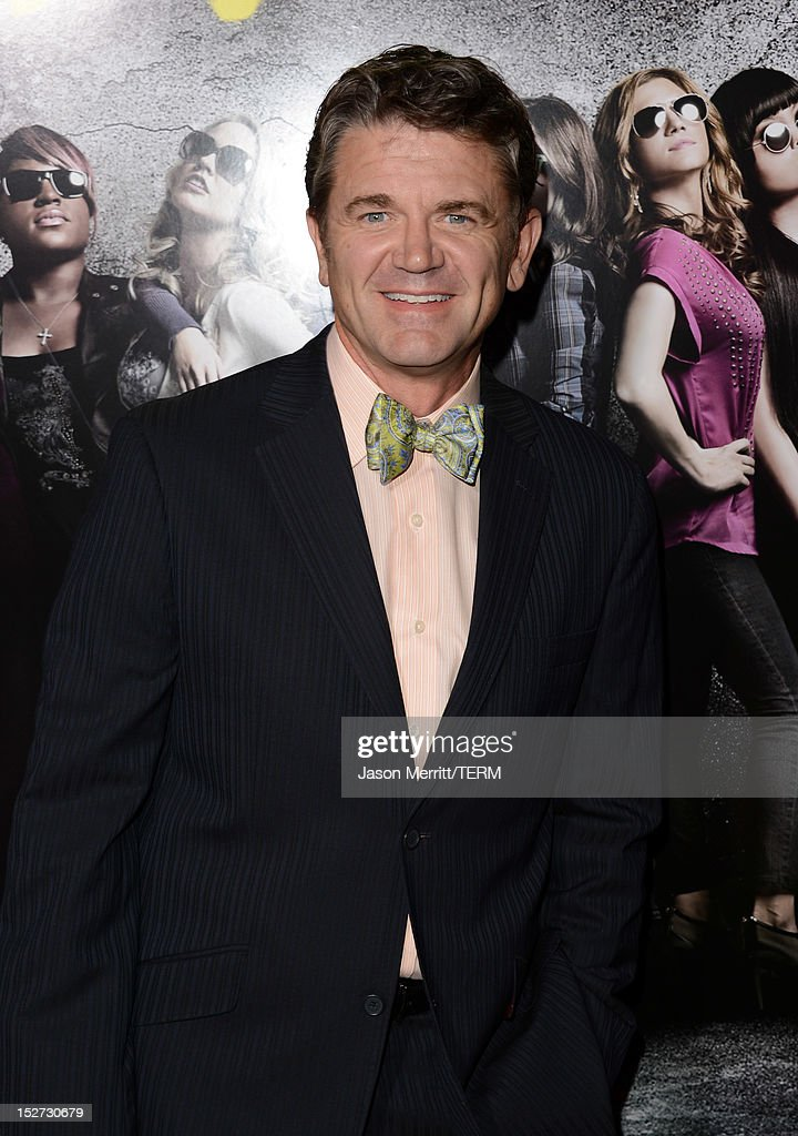 Actor <a gi-track='captionPersonalityLinkClicked' href=/galleries/search?phrase=John+Michael+Higgins&family=editorial&specificpeople=227256 ng-click='$event.stopPropagation()'>John Michael Higgins</a> arrives at the premiere of Universal Pictures And Gold Circle Films' 'Pitch Perfect' at ArcLight Cinemas on September 24, 2012 in Hollywood, California.