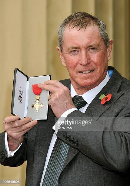 Actor John Nettles with his Officer of the British Empire medal after it was presented to him by Queen Elizabeth II at Buckingham Palace on 9...