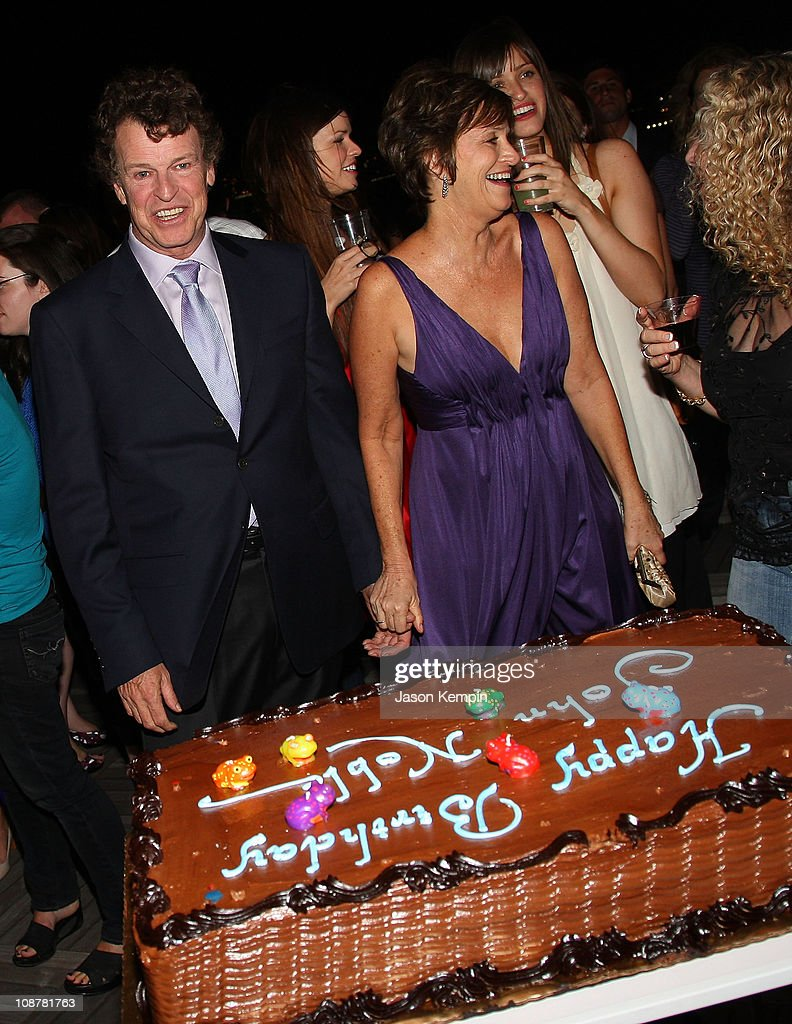Actor <a gi-track='captionPersonalityLinkClicked' href=/galleries/search?phrase=John+Noble&family=editorial&specificpeople=1866932 ng-click='$event.stopPropagation()'>John Noble</a> and wife Penny celebrate his birthday at 'Fringe' New York premiere party at The Xchange on August 25, 2008 in New York City.