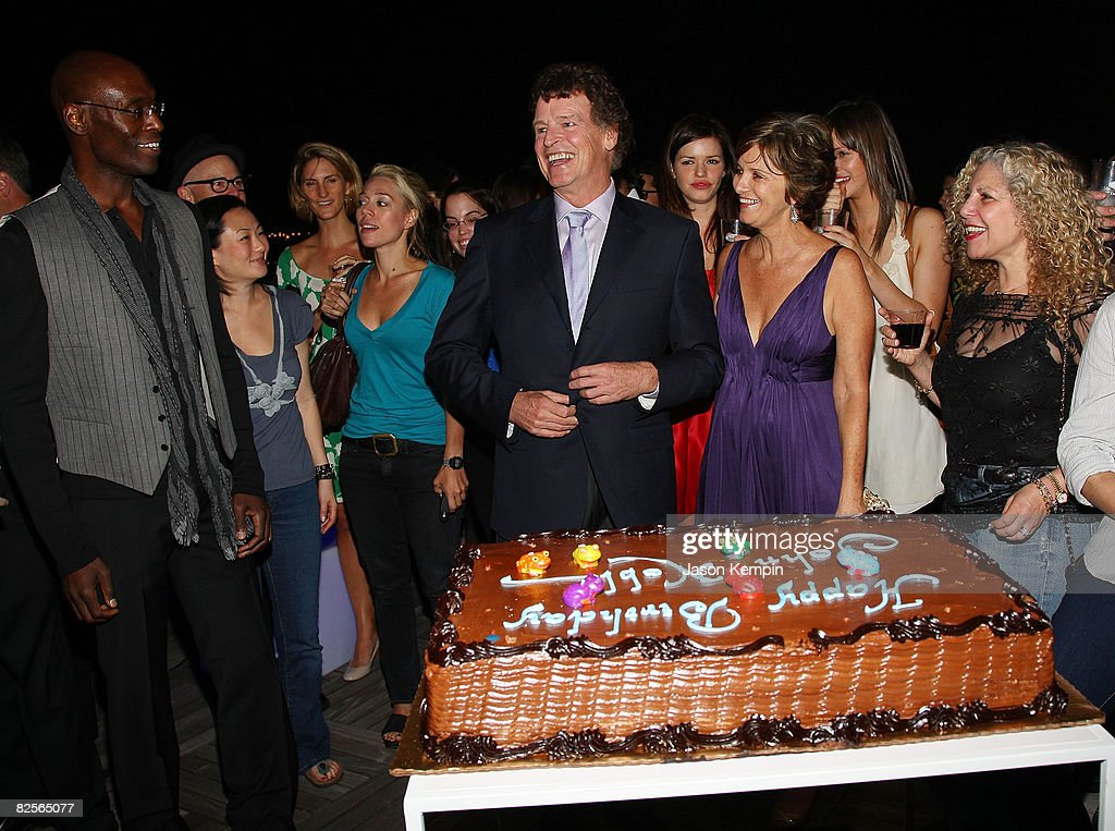 Actor John Noble and wife Penny celebrate his birthday at 'Fringe' New York premiere party at The Xchange on August 25, 2008 in New York City.