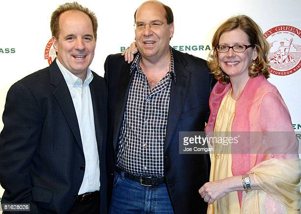 Actor John Pankow Gary Greengrass and actress Kristine Sutherland attend the Barney Greengrass celebration of 100 years on June 18 2008 at Barney...