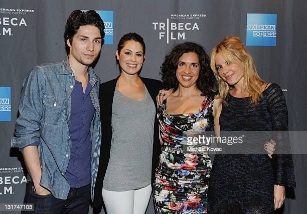 Actor John Patrick Amedori actress Michelle Borth director Jac Schaeffer and actress Emma Caulfield attend the DVD Release Party Of 'TiMER' at...