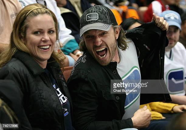 Actor John PyperFerguson attends game two of the 2007 Western Conference Semifinals between the Anaheim Ducks and the Vancouver Canucks at Honda...