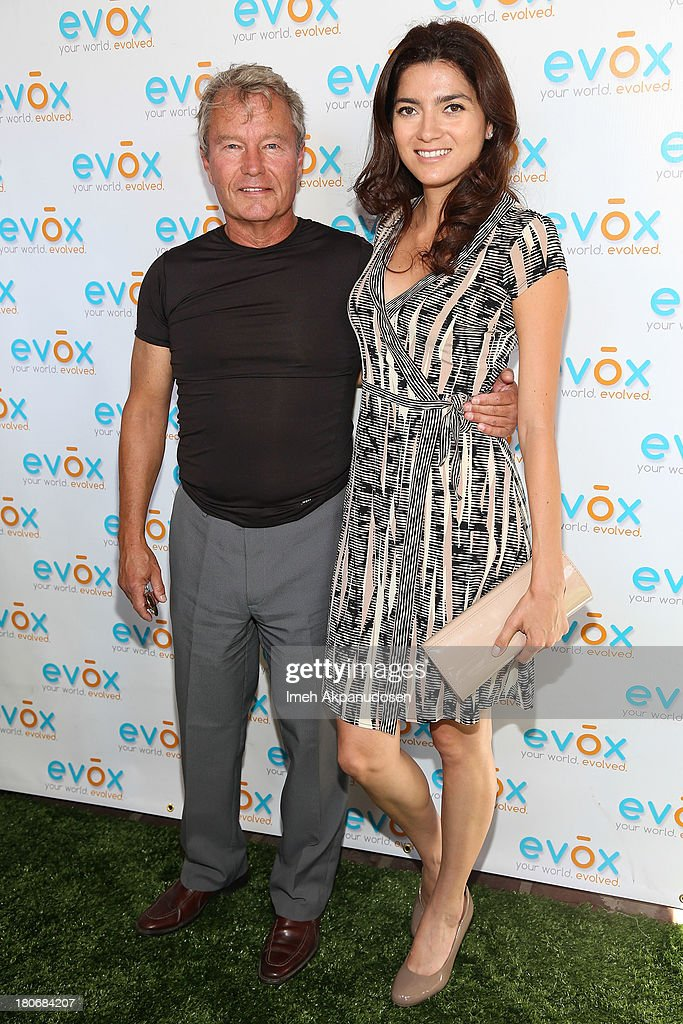 Actor <a gi-track='captionPersonalityLinkClicked' href=/galleries/search?phrase=John+Savage+-+Actor&family=editorial&specificpeople=12658857 ng-click='$event.stopPropagation()'>John Savage</a> (L) and actress <a gi-track='captionPersonalityLinkClicked' href=/galleries/search?phrase=Blanca+Blanco&family=editorial&specificpeople=9472294 ng-click='$event.stopPropagation()'>Blanca Blanco</a> attend the green carpet launch for the Evox TV debut of Ed Begley's new family show, 'On Begley Street' on September 15, 2013 in Pasadena, California.