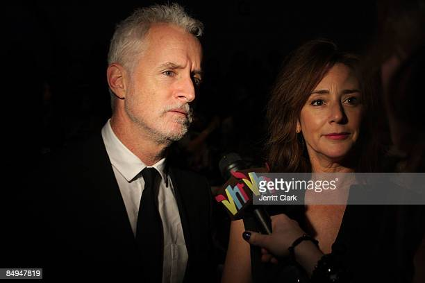 Actor John Slattery and Talia Balsam attend Nanette Lepore Fall 2009 during MercedesBenz Fashion Week at The Promenade in Bryant Park on February 18...