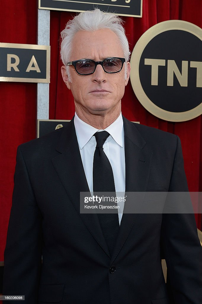Actor John Slattery arrives at the 19th Annual Screen Actors Guild Awards held at The Shrine Auditorium on January 27, 2013 in Los Angeles, California.