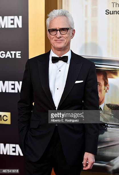 Actor John Slattery attends the AMC celebration of the final 7 episodes of 'Mad Men' with the Black Red Ball at the Dorothy Chandler Pavilion on...