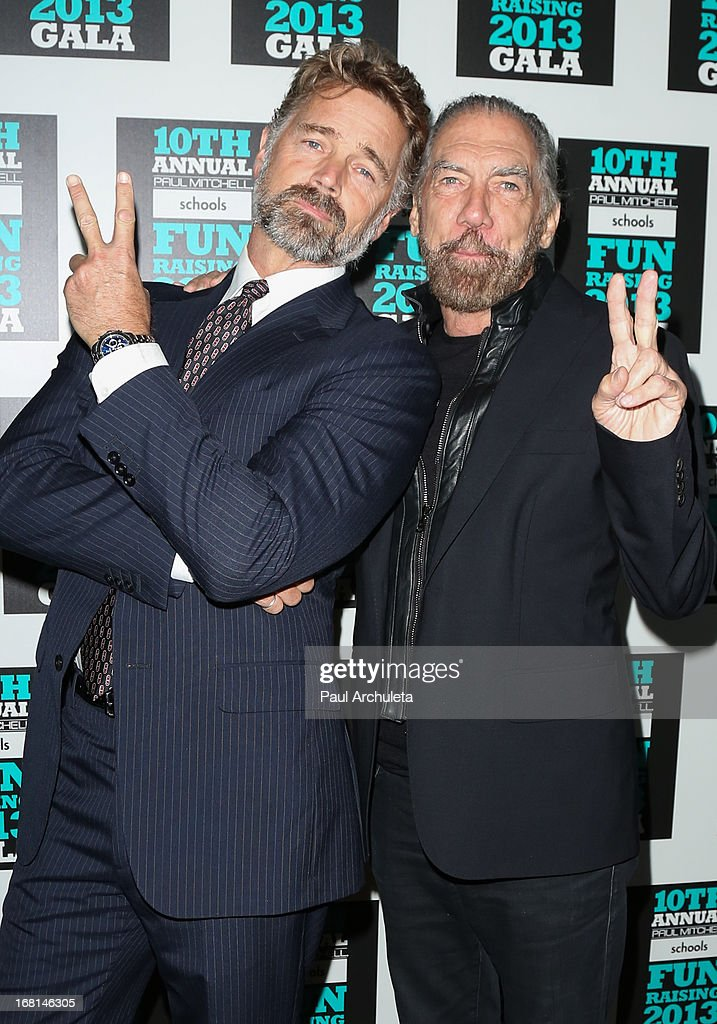 Actor John Snider (L) and <a gi-track='captionPersonalityLinkClicked' href=/galleries/search?phrase=John+Paul+DeJoria&family=editorial&specificpeople=228016 ng-click='$event.stopPropagation()'>John Paul DeJoria</a> (R) attend the Paul Mitchell schools' 'FUNraising Campaign' gala at The Beverly Hilton Hotel on May 5, 2013 in Beverly Hills, California.