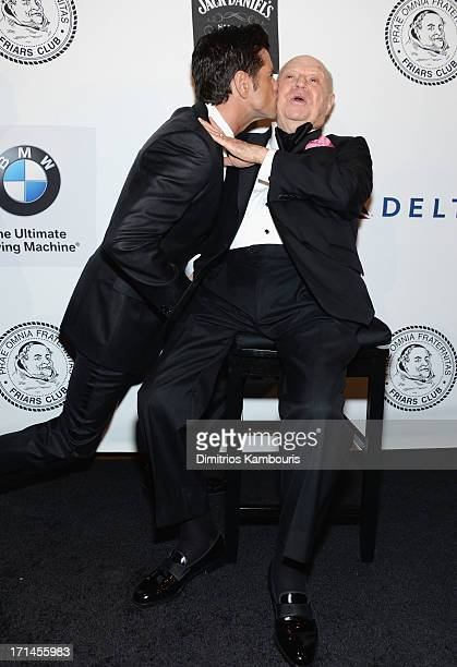 Actor John Stamos and Don Rickles attend The Friars Foundation Annual Applause Award Gala honoring Don Rickles at The Waldorf=Astoria on June 24 2013...