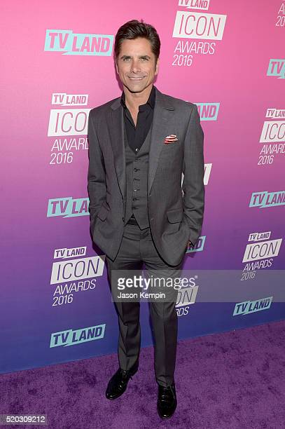 Actor John Stamos attends 2016 TV Land Icon Awards at The Barker Hanger on April 10 2016 in Santa Monica California