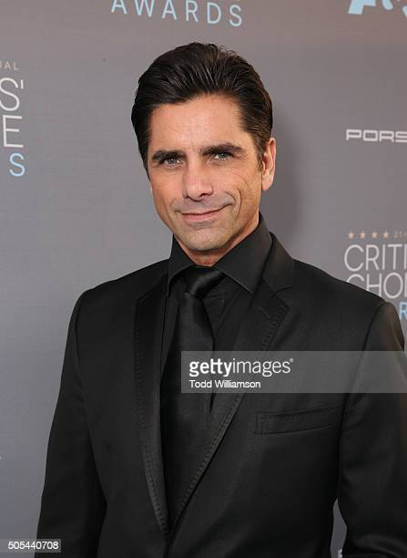 Actor John Stamos attends the 21st Annual Critics' Choice Awards at Barker Hangar on January 17 2016 in Santa Monica California