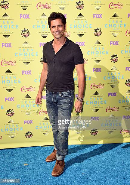 Actor John Stamos attends the Teen Choice Awards 2015 at the USC Galen Center on August 16 2015 in Los Angeles California