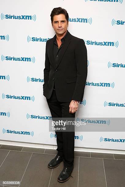 Actor John Stamos visits the SiriusXM Studios on January 4 2016 in New York City